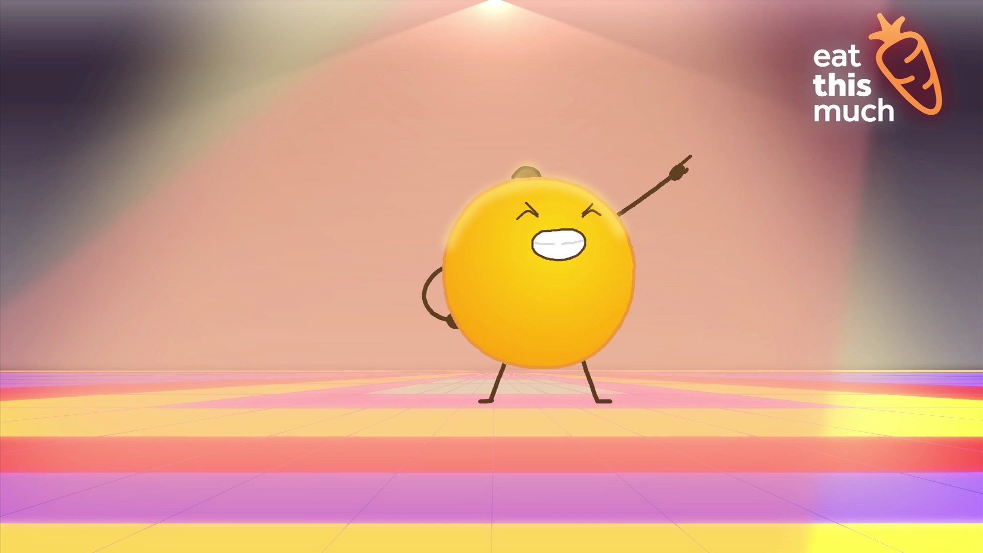 This orange can dance better than you.. oh yeah!