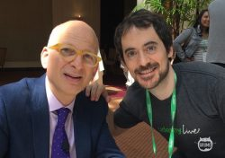 Posing next to Seth Godin at Udemy's first live event in San Francisco