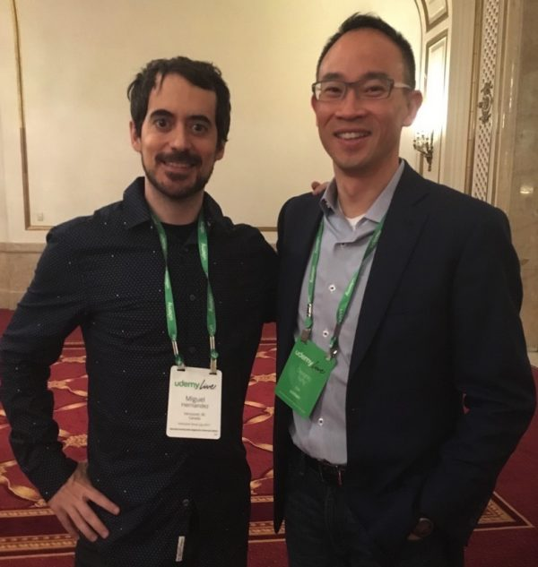 With Dennis Yang, CEO of Udemy who is very optimistic about the future of Udemy... oh yeah!