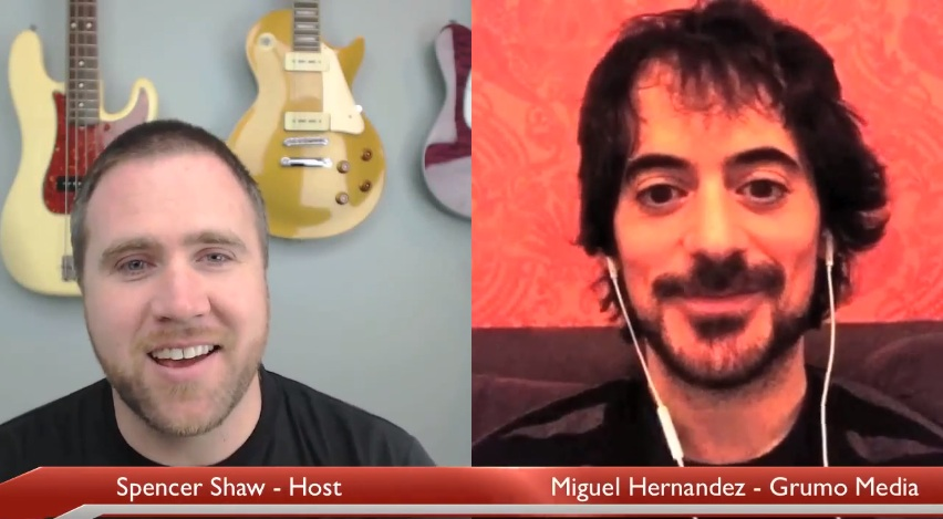 Spencer Shaw interviewing Miguel via Skype on Jan 28th, 2014