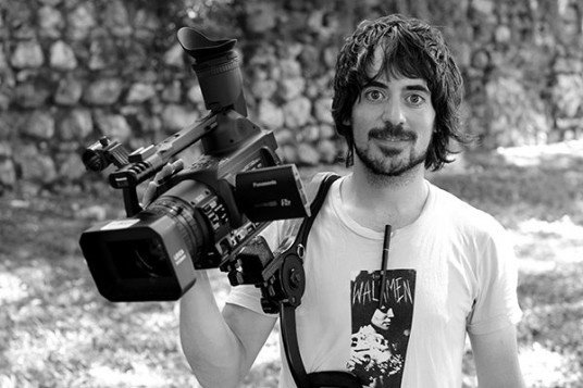 Miguel Hernandez shooting a music video in Madrid, Spain. - Aug 2010