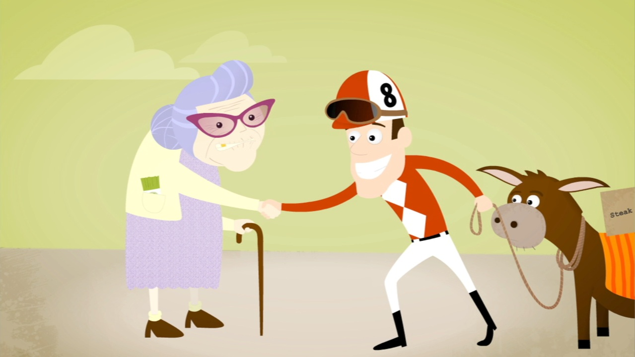 Sonoma Partners: Old lady goes on a date with a jockey? oh yeah!
