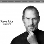 Apple's home page on Oct 5th, 2011