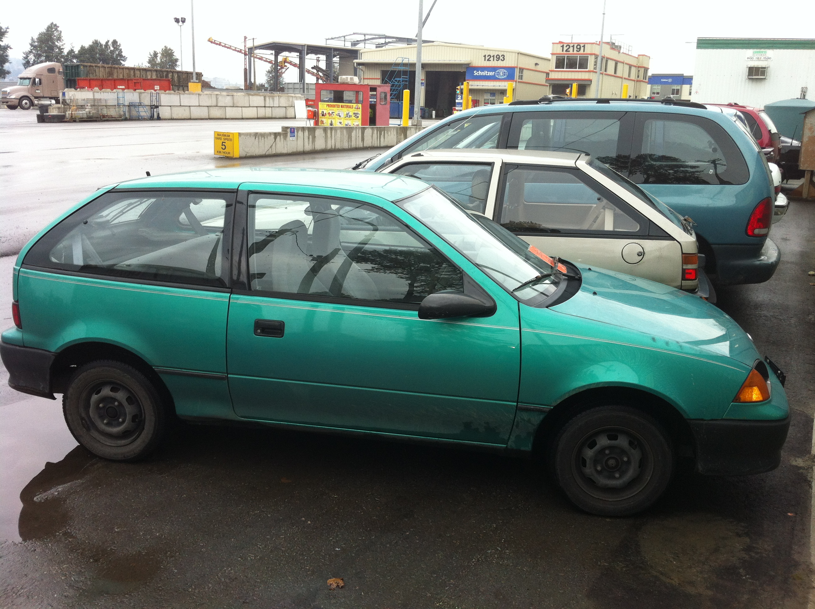 My Green 94 Geo Metro Has D After 13 Years Driving It
